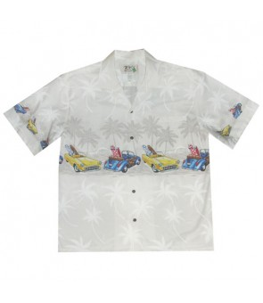 "Hawaiian Cotton Aloha Shirt [ Woody & Classic 12"" ] White"