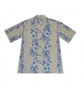 Hawaiian Cotton Boys Aloha Shirt [ Trend Hibiscus ] Cream
