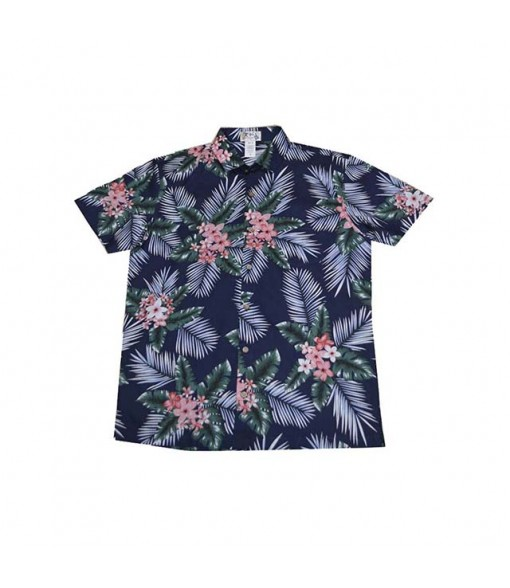 Hawaiian Cotton Slim Fit Aloha Shirt [ Plumeria Bunch ] Navy Blue