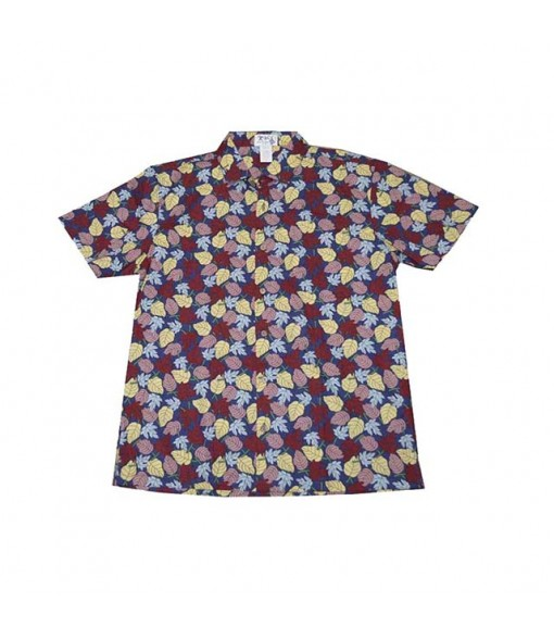 Hawaiian Cotton Slim Fit Aloha Shirt [ Waianae Kai Leaf ] Navy Blue