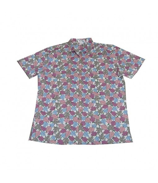Hawaiian Cotton Slim Fit Aloha Shirt [ Waianae Kai Leaf ] Pink