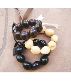 Kukui Bracelet [ Plain ] Black or Brown or Natural