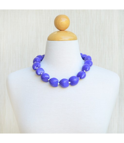 Painted Kukui Choker [ Plain ] Purple