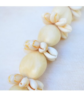 Kukui Lei [ Cowrie Shell Ring ] Natural