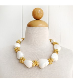 Shell Choker [ Clam & Mongo Shell ] Yellow