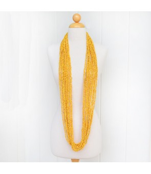 Long Shell Lei [ 12-Strand Mongo Shell ] Yellow
