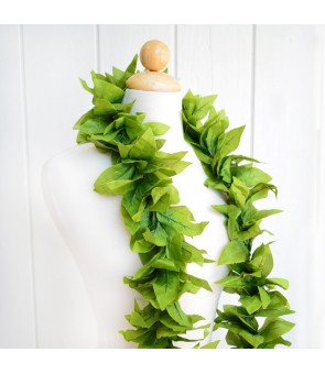 Silk Maile Lei [ NEW Open Maile Lei ] 4 Leaf