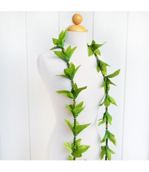Silk Maile Lei [ Mokihana with Maile Open Lei ] Green