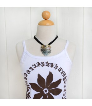 Tahitian Shell Necklace [ Akala Monstera ] Black