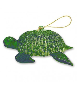 Glass Lace Christmas Ornament [ Honu ] Green