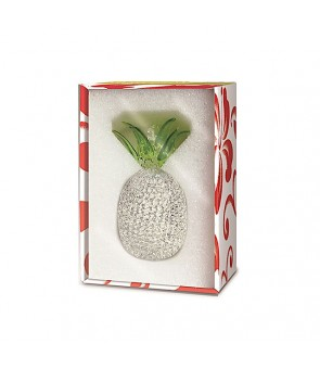 Glass Lace Christmas Ornament [ Pineapple ] Green Top