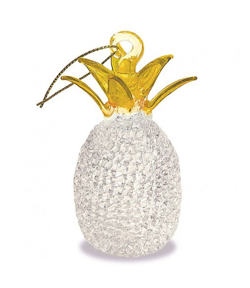 Glass Lace Christmas Ornament [ Pineapple ] Yellow Top