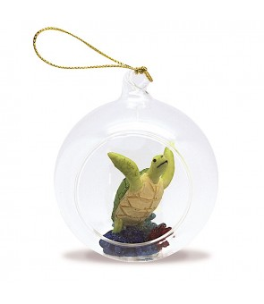 Glass Window Christmas Ornament [ Flying Honu ]