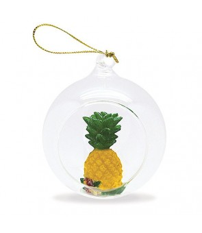 Glass Window Christmas Ornament [ Pineapple ]