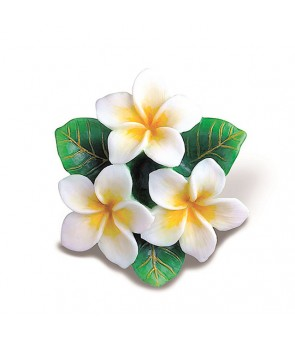 Hand-Painted Ornament [ Plumeria ] White