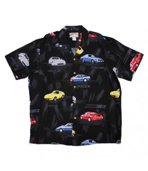 Hawaiian Rayon Aloha Shirt [ Nissan Z Collection ] Black