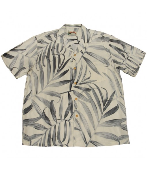 Hawaiian Rayon Aloha Shirt [ Palm Fronds ] Cream