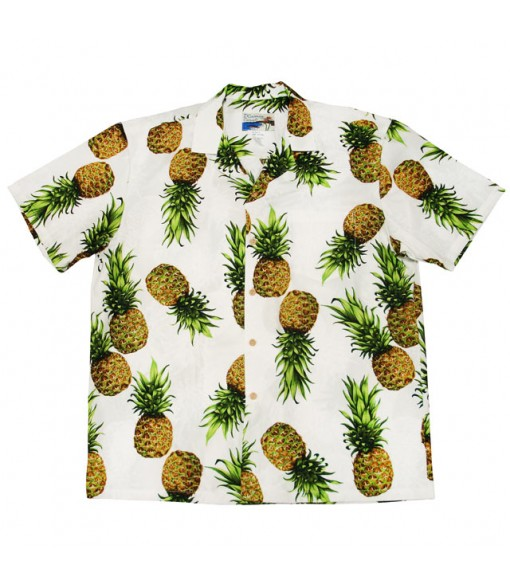 Hawaiian Cotton Aloha Shirt [ Maui Pineapple ] White