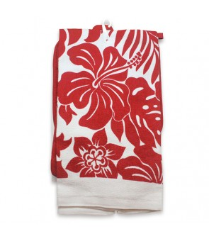 Kitchen Set [ Hibiscus Floral ] Red