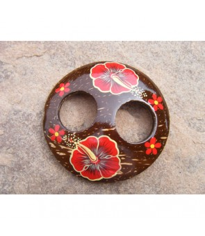 Tahitian Pareo Clip [ Hibiscus ] Red