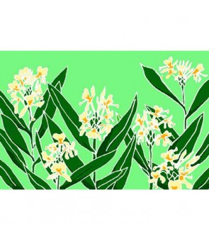 Tahitian Pareo [ Ginger Blossom ] Yellow & Green