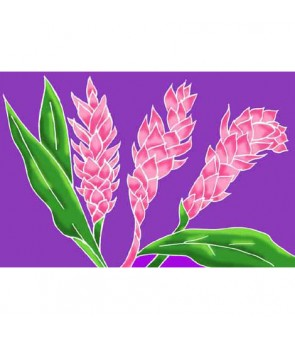 Tahitian Pareo [ Torch Ginger ] Lavender & Pink