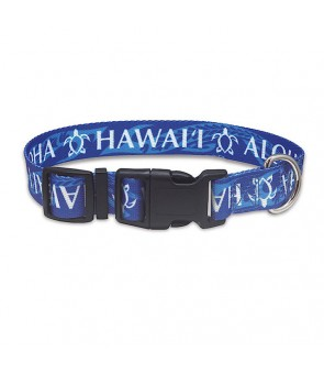 Pet Collar [ Island Honu ] Blue