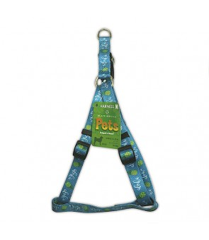 Pet Harness [ Pineapple Aloha ] Aqua
