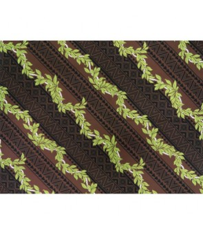 Hawaiian Poly Cotton Fabric BN-14-122 [ Digital Tapa / Lei ] Brown