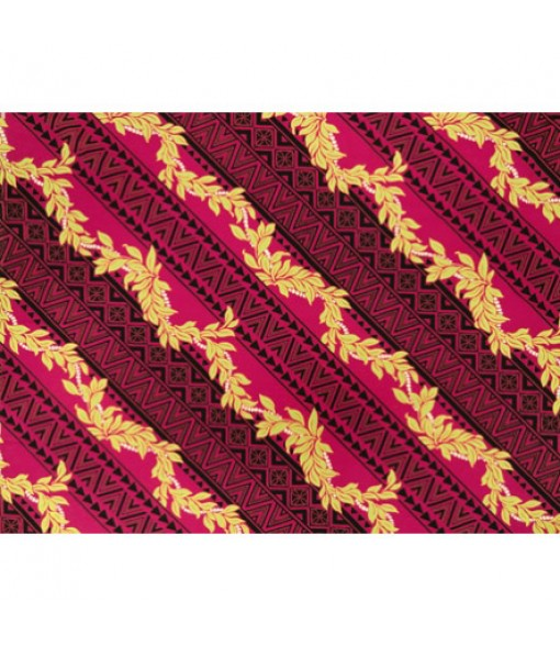 Hawaiian Poly Cotton Fabric BN-14-122 [ Digital Tapa / Lei ] Fuchsia