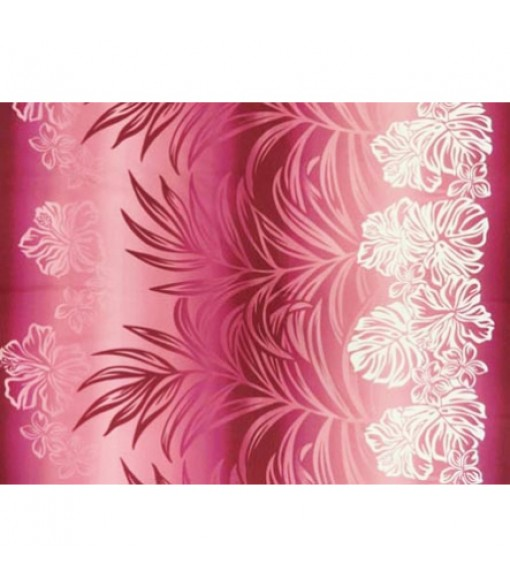 Hawaiian Poly Cotton Fabric BN-16-159 [ Hibiscus Monstera / Palm Leaf ] Rose Pink