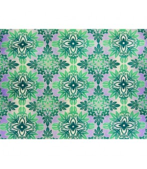 Hawaiian Poly Cotton Fabric BN-16-176 [ Quilt ] Teal Periwinkle