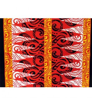Hawaiian Poly Cotton Fabric BN-17-221 [ Tapa ] Red