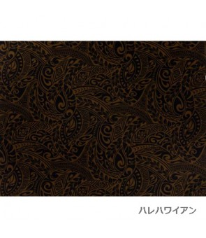 Hawaiian Poly Cotton Fabric BQ-11-788 [ Tapa Wave ] Brown Black