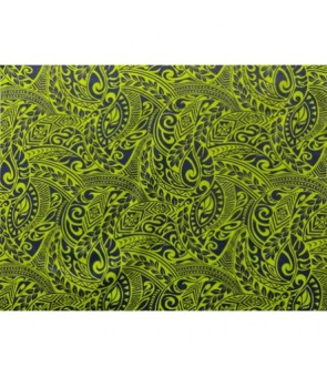 Hawaiian Poly Cotton Fabric BQ-11-788 [ Tapa Wave ] Navy Green