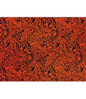Hawaiian Poly Cotton Fabric BQ-11-788 [ Tapa Wave ] Orange
