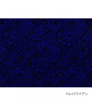 Hawaiian Poly Cotton Fabric BQ-11-788 [ Tapa Wave ] Royal Blue