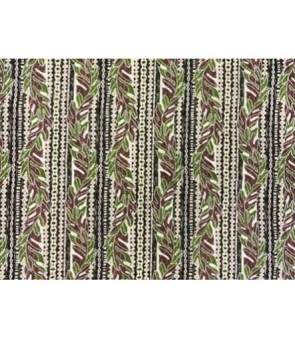 Hawaiian Poly Cotton Fabric GA-16-128 [ Leaf Lei ] Brown