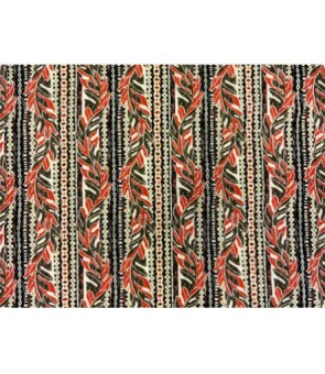 Hawaiian Poly Cotton Fabric GA-16-128 [ Leaf Lei ] Rust