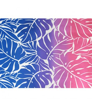 Hawaiian Poly Cotton Fabric GA-18-153 [ Big Monstera ] Pink
