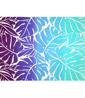 Hawaiian Poly Cotton Fabric GA-18-153 [ Big Monstera ] Turquoise