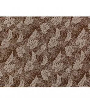 Hawaiian Poly Cotton Fabric LMH-04-331 [ Monstera ] Brown
