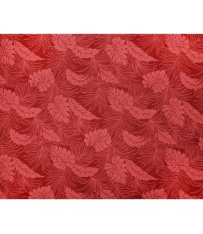 Hawaiian Poly Cotton Fabric LMH-04-331 [ Monstera ] Burgundy
