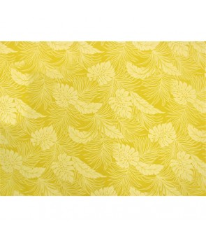 Hawaiian Poly Cotton Fabric LMH-04-331 [ Monstera ] Canary Yellow