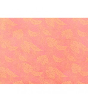 Hawaiian Poly Cotton Fabric LMH-04-331 [ Monstera ] Coral