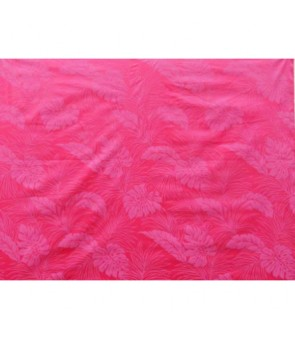 Hawaiian Poly Cotton Fabric LMH-04-331 [ Monstera ] Fuchsia