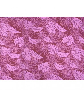 Hawaiian Poly Cotton Fabric LMH-04-331 [ Monstera ] Grape Purple
