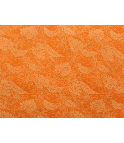 Hawaiian Poly Cotton Fabric LMH-04-331 [ Monstera ] Orange