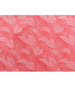 Hawaiian Poly Cotton Fabric LMH-04-331 [ Monstera ] Peach Pink