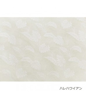 Hawaiian Poly Cotton Fabric LMH-04-331 [ Monstera ] Pearl White